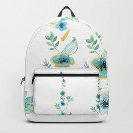 Blue Floral Twist Backpack