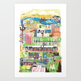 Portland West Side Art Print