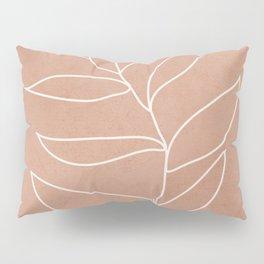 Engraved Leaf Line Pillow Sham