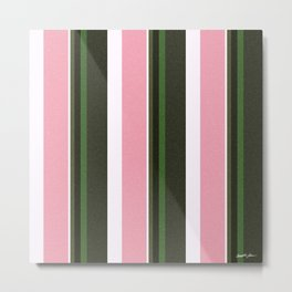 Pink Roses in Anzures 3 Stripes 5V Metal Print