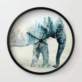 Vanishing Elephant  Wall Clock