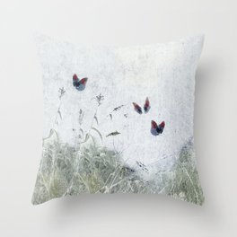 A Spell for Creation - butterflies amongst grass Throw Pillow