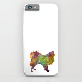 Japanese Spitz in watercolor iPhone Case