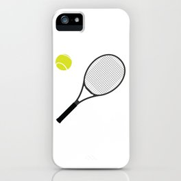 Tennis Racket And Ball 1 iPhone Case
