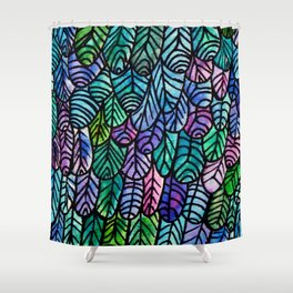 Feathers Pattern Shower Curtain