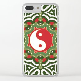 Holiday Festive Balance Yin Yang Clear iPhone Case