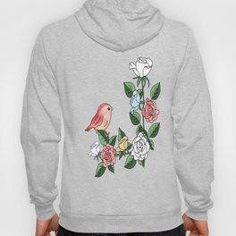 bird and roses Hoody
