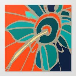 Spring collection - orange - flower Canvas Print