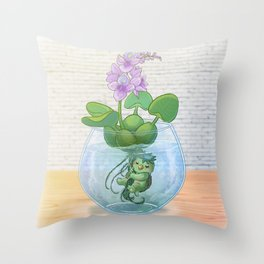 Kappa terrarium Throw Pillow
