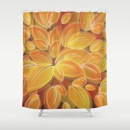 Warm Golden Autumn Flowers Shower Curtain