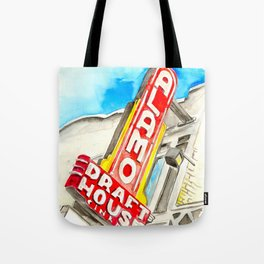 Alamo Drafthouse watercolor Tote Bag