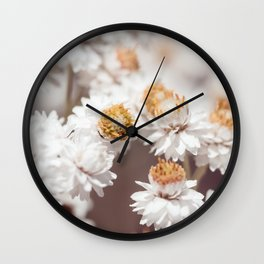 Pearly Everlasting Wall Clock