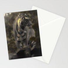 Yawning ,Golden Tiger 5 Stationery Cards