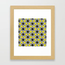 Yellow and Black Flowers Framed Art Print