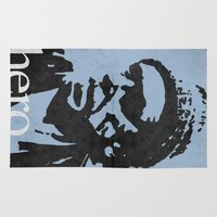 bukowski Area & Throw Rugs featuring Charles Bukowski - hero. by alex lodermeier