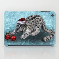 snow leopard iPad Cases featuring Snow Leopard by Anna Shell