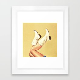 These Boots Framed Art Print