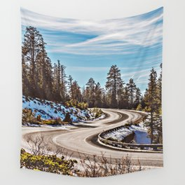 Rocky Mountain Highway Wall Tapestry