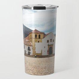 Main plaza of Villa de Leyva,Colombia Travel Mug