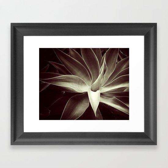 mocha java agave Framed Art Print