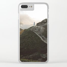 Standing Still at Cape Kiwanda Clear iPhone Case