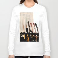 cleveland Long Sleeve T-shirts featuring Guitars Cleveland DownTown by Dawn Marie