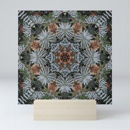 Spruce Cones And Needles Kaleidoscope K4 Mini Art Print