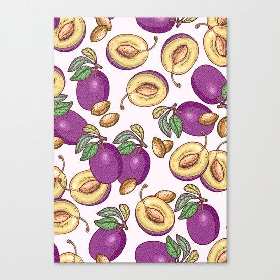 Romantic plum pattern Canvas Print