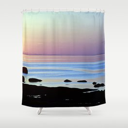 Swirling Currents Shower Curtain