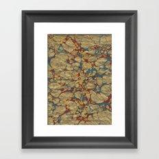 Marbled Gold Framed Art Print
