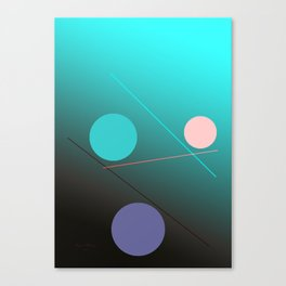 The 3 dots, power game 1 Canvas Print
