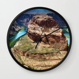 Horseshoe Bend - Grand Canyon, Colorado River View No. 1 Wall Clock