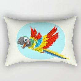 Happy colorful parrot cartoon Rectangular Pillow
