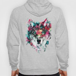 Wolf Face, Colorful Wolf Hoody