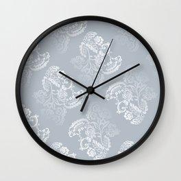 Light blue lace pattern Wall Clock