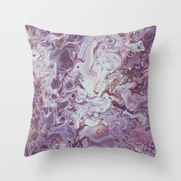 Plum Life Throw Pillow