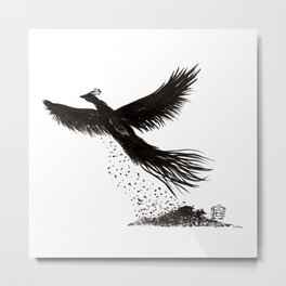 Phoenix rising from the ashes Metal Print