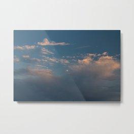 Cotton Candy Skies & Moon pt.2 Metal Print