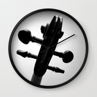 violin Wall Clocks featuring Violin by tracy-Me