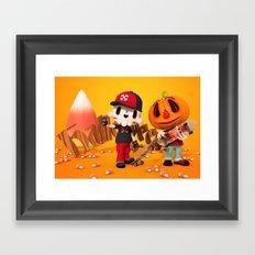 Halloween Pals Framed Art Print