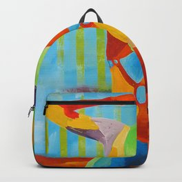 Girl Pop-art Woman Figure Color Backpack