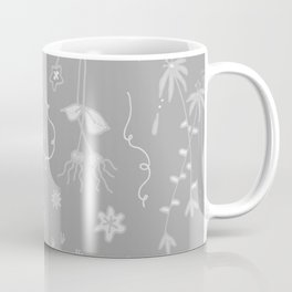Grey Floral Pattern Coffee Mug