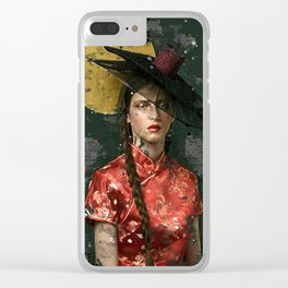 Geisha latina Clear iPhone Case