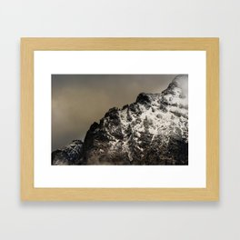GOODNIGHT MOUNTAINS Framed Art Print