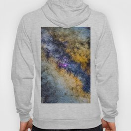 The Milky Way and constellations Scorpius, Sagittarius and the super big red star Antares. Hoody