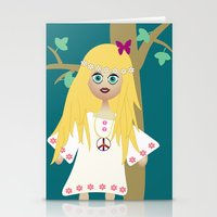 hippie Stationery Cards featuring Hippie by lescapricesdefilles