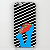 taco iPhone & iPod Skins featuring Taco Time by Tyler Spangler