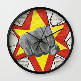 Super Awesome Fist Bumping! Wall Clock