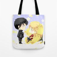 ouat Tote Bags featuring OUAT - Buttercup Princess by Yorlenisama