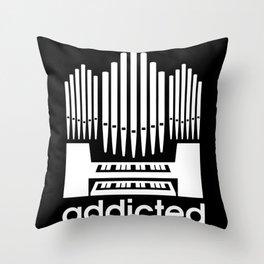 Organ Church Organ Player Piano Musician Throw Pillow